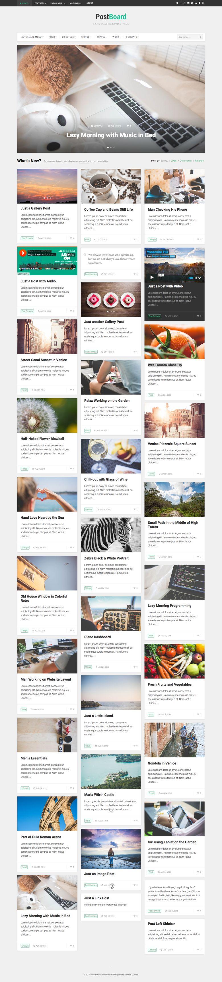 PostBoard WordPress Behance Like Theme