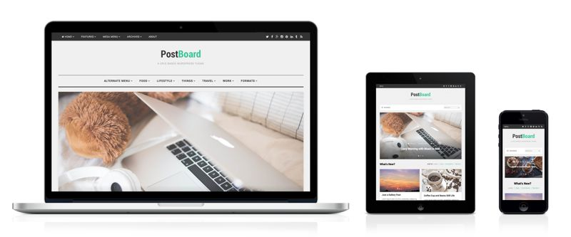 PostBoard WordPress Pinterest Like Theme & Grid Based