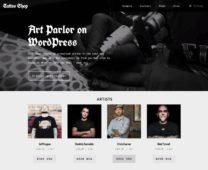 Tattoo Shop WordPress Tattoo Designers Theme