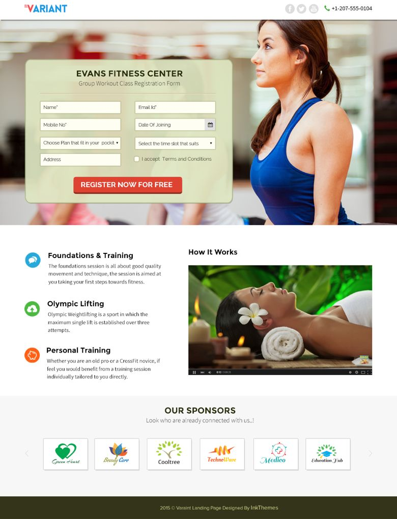 Variant WordPress Fitness Lead Generating Theme