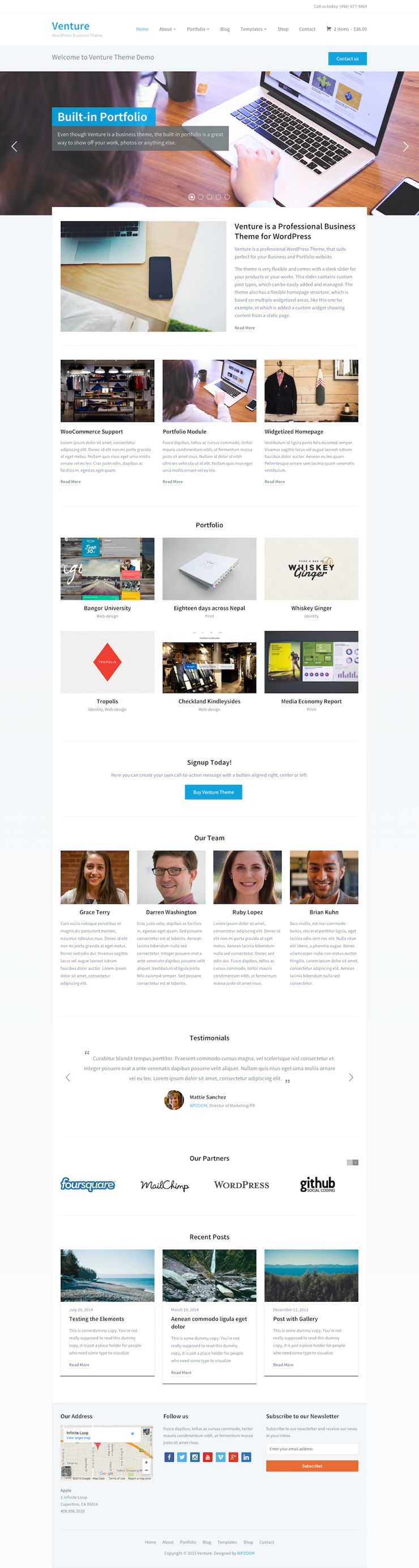 Venture 2.0 WordPress Business Portfolio Theme