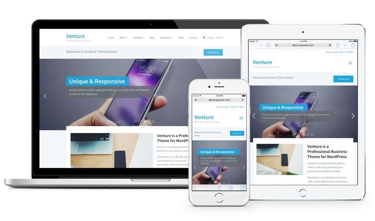Venture 2.0 WordPress Responsive eCommerce Theme