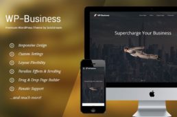 WP Business Parallax Effects Theme