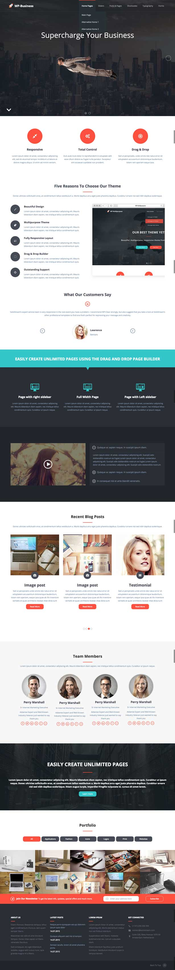 WP Business Responsive Multipurpose Theme