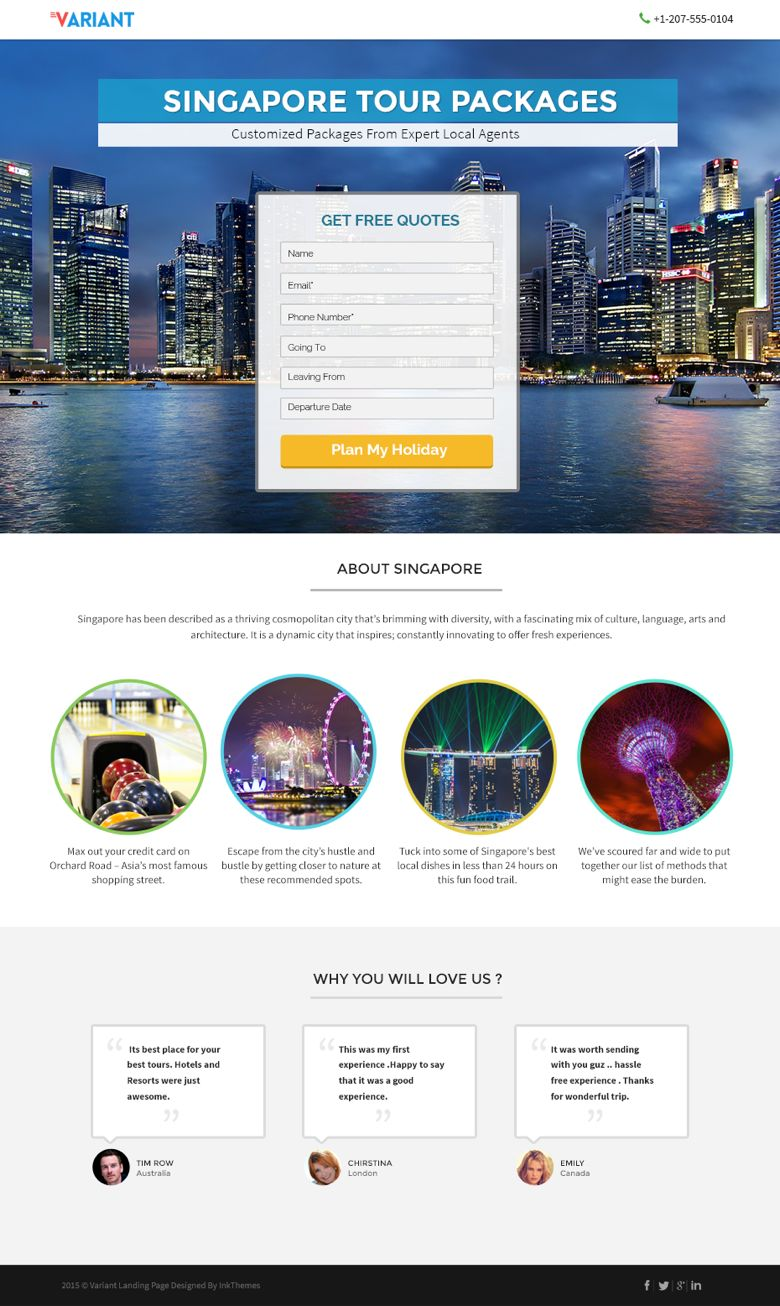 WordPress Travel Booking Landing Page Theme