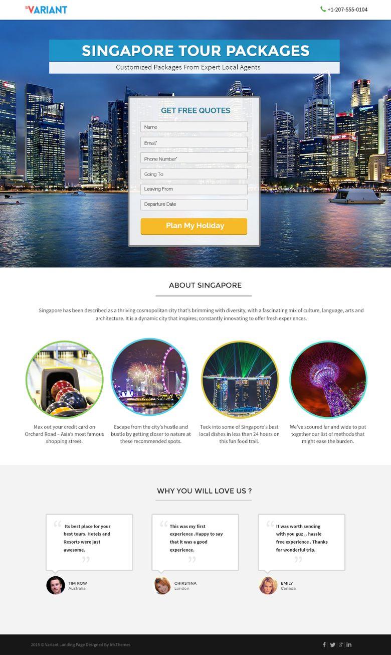 WordPress Travel Booking Landing Page Theme