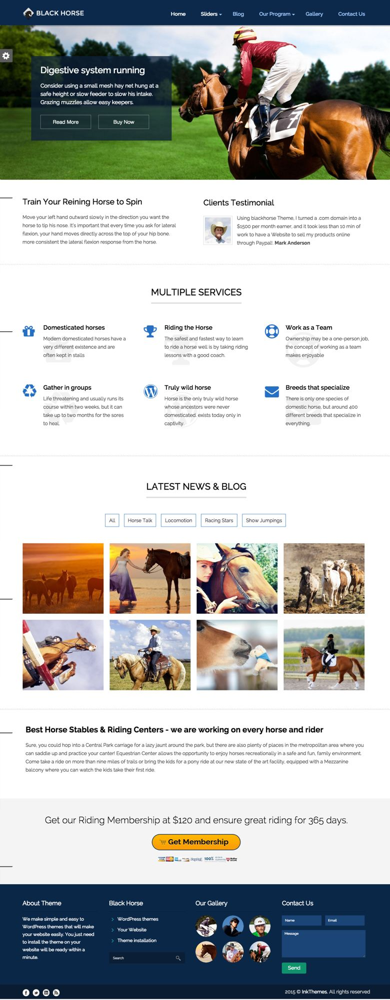 BlackHorse WordPress Equestrians Theme