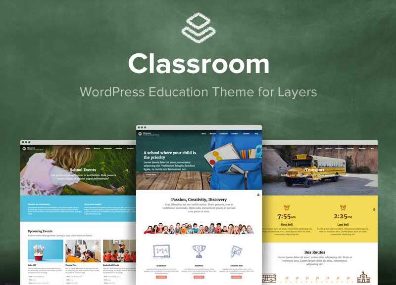 Classroom WordPress Theme for Kindergarten & Middle Schools