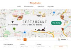 DiningEngine WordPress Restaurants Directory Listings Theme