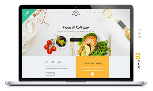 GOURMET Food WordPress Theme