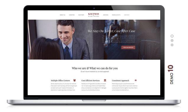 KAUFMAN Lawyer WordPress Theme