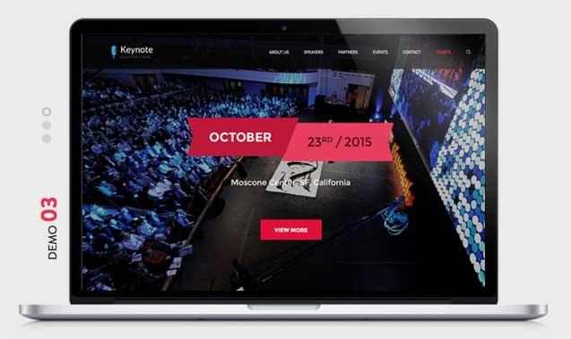 KEYNOTE Events WordPress Theme