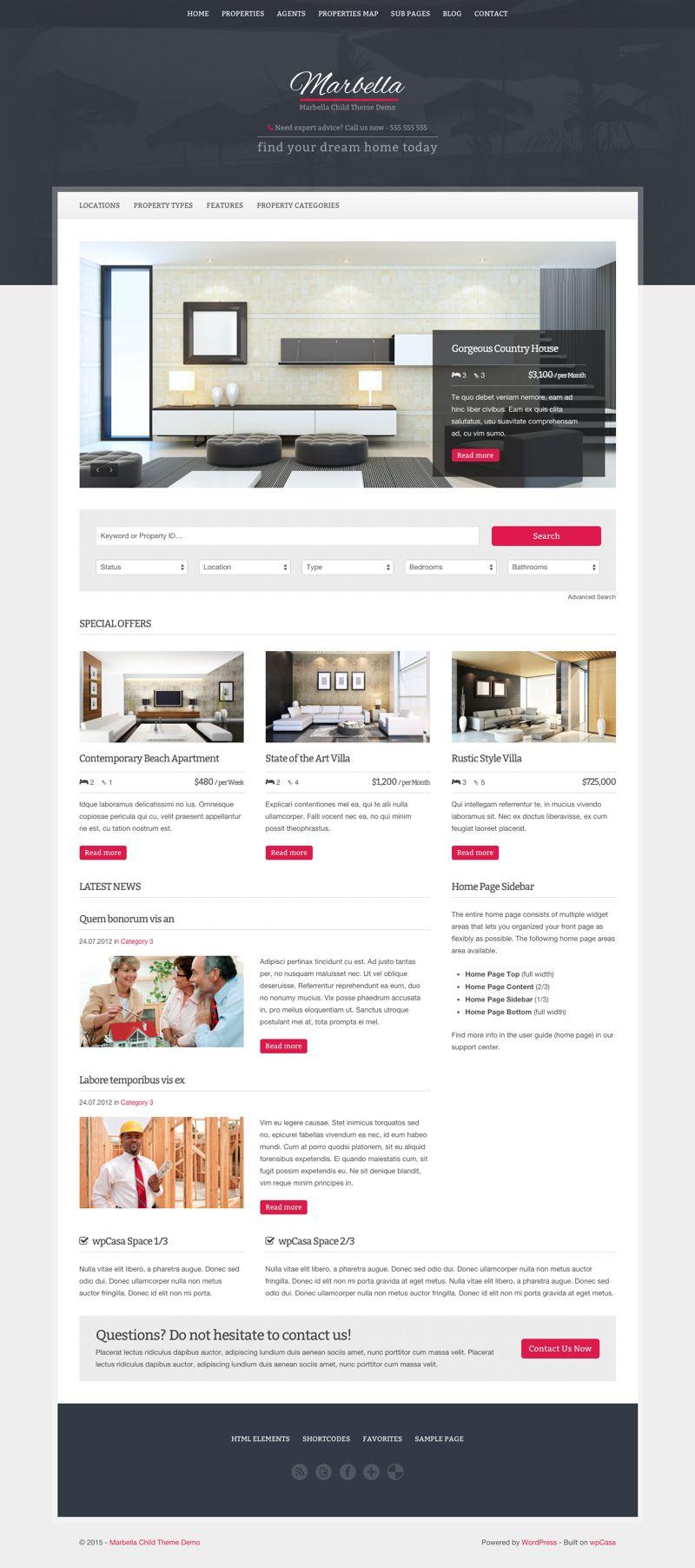 Marbella WordPress Property Listings Theme