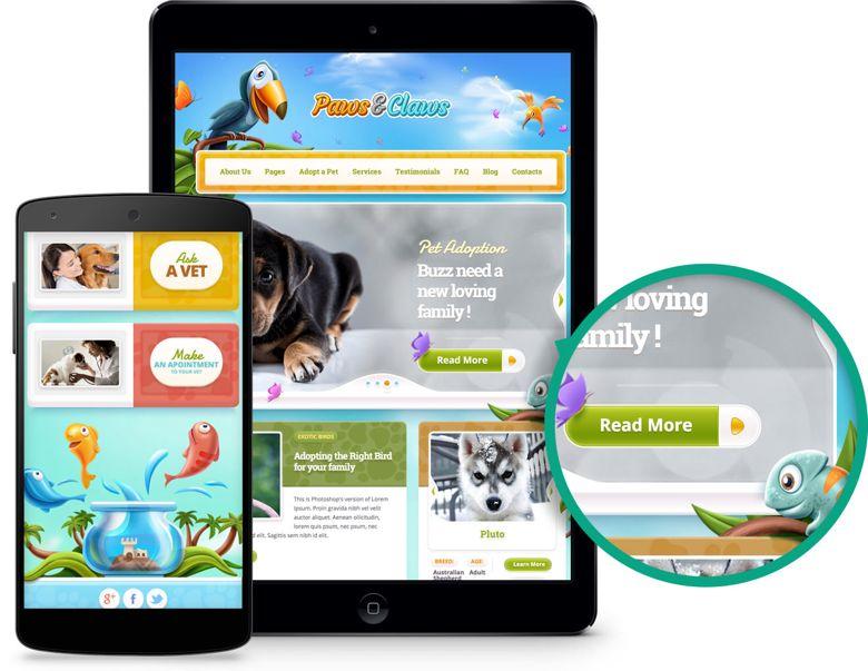 Paws & Claws WordPress Pet Clinics Theme