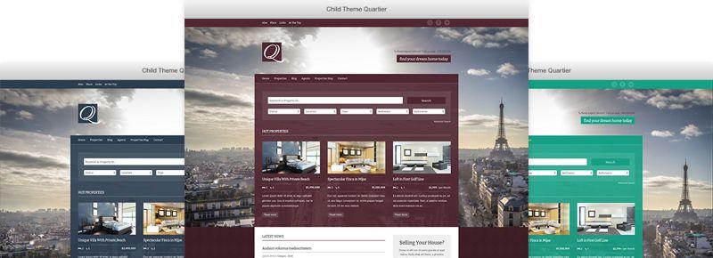 Quartier WordPress Property Listing Theme