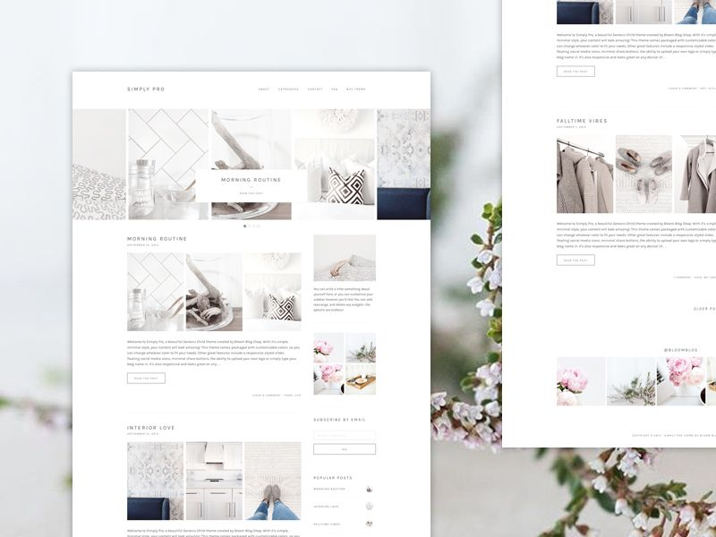 Simply Pro WordPress Bloggers Theme