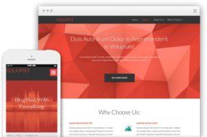 Squared WordPress Flat Marketing Design Theme