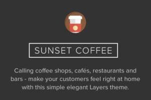 Sunset Coffee WordPress Restaurants Theme