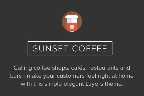 Sunset Coffee WordPress Restaurants Theme