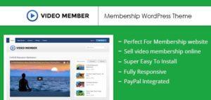 Video Member WordPress Online Video Membership Theme