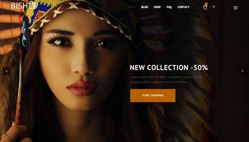 BiShop WordPress Theme - Homepage Layout 1