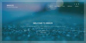 Breeze WordPress Full Screen Portfolio Theme