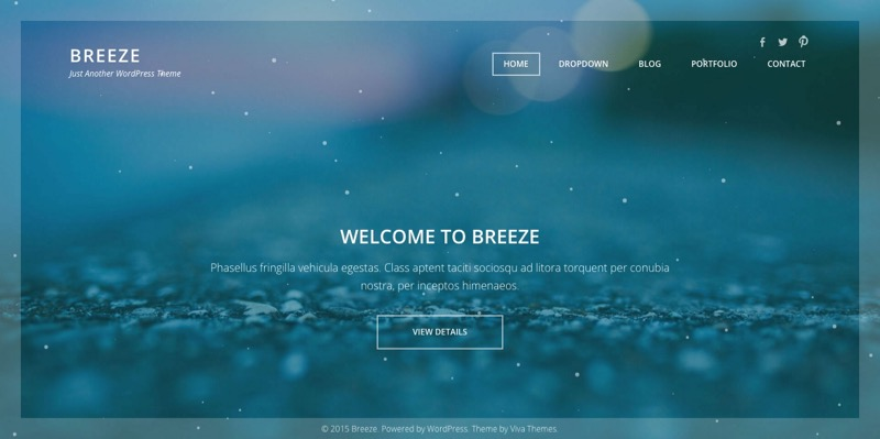 Breeze WordPress Full Screen Portfolio Theme