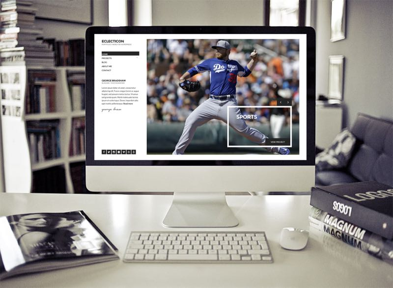 Eclecticon WordPress Minimal Layout Portfolio Theme