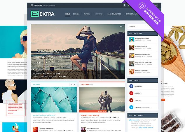 Extra WordPress Magazine Bloggers Theme
