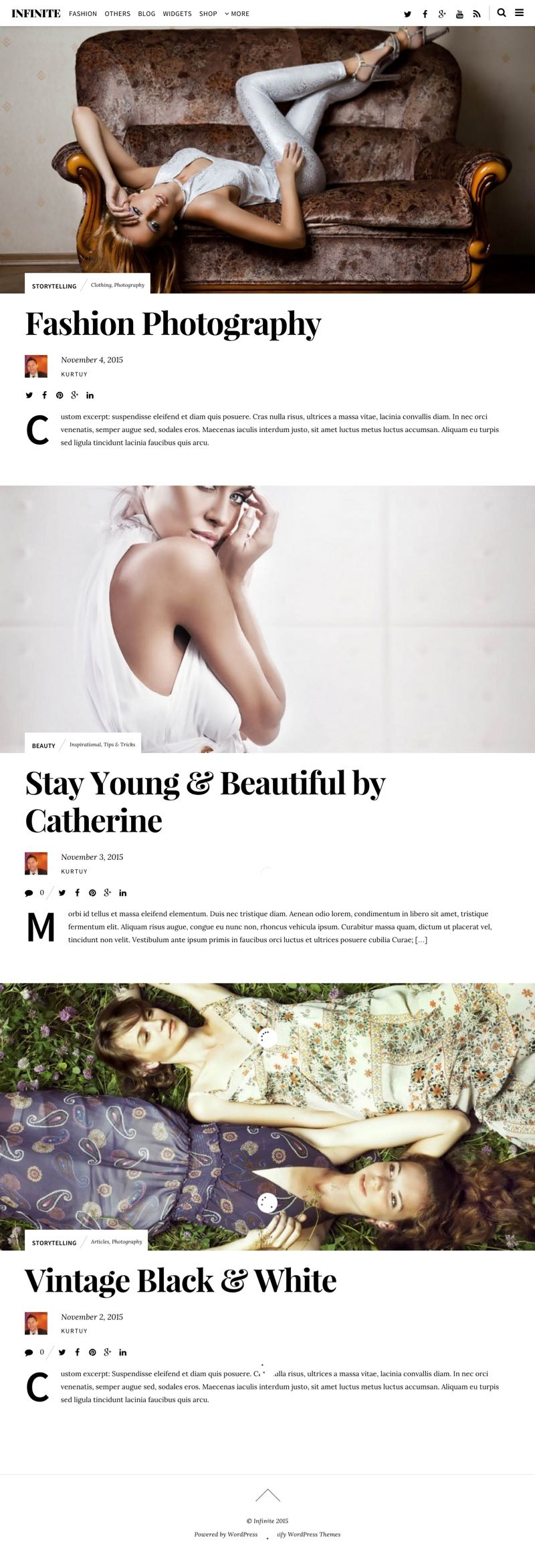 Infinite WordPress Theme like Vogue, Forbe, Mashable