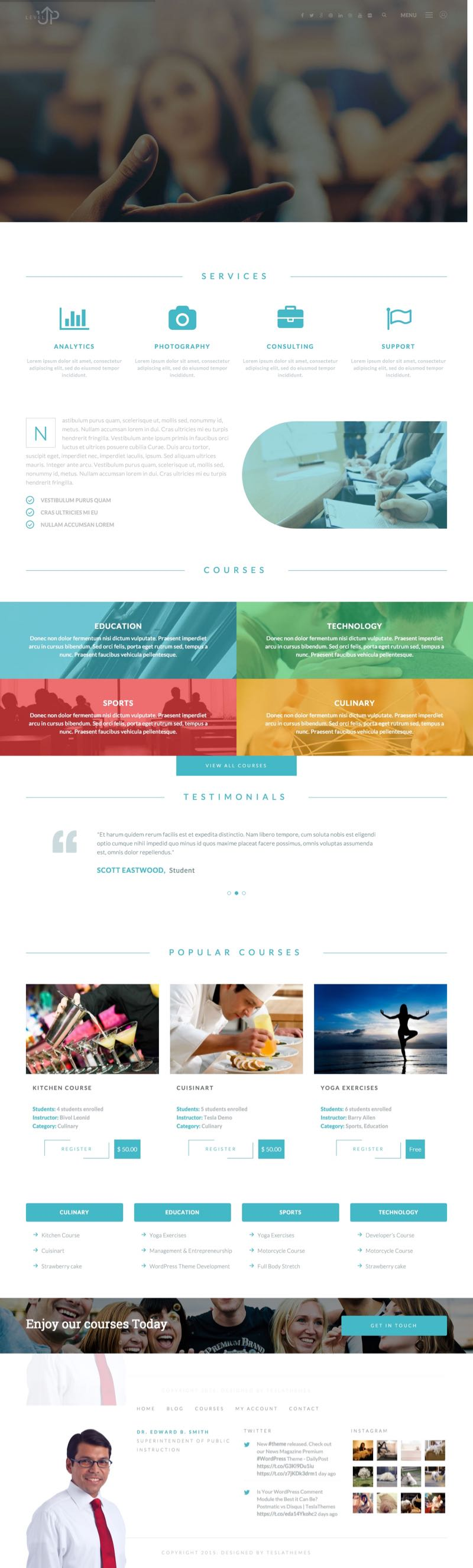 LevelUp WordPress Learning Management System Theme
