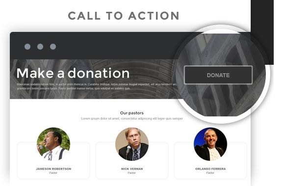 Make a donation call to action button