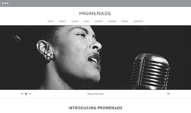Promenade WordPress Music or Band Theme