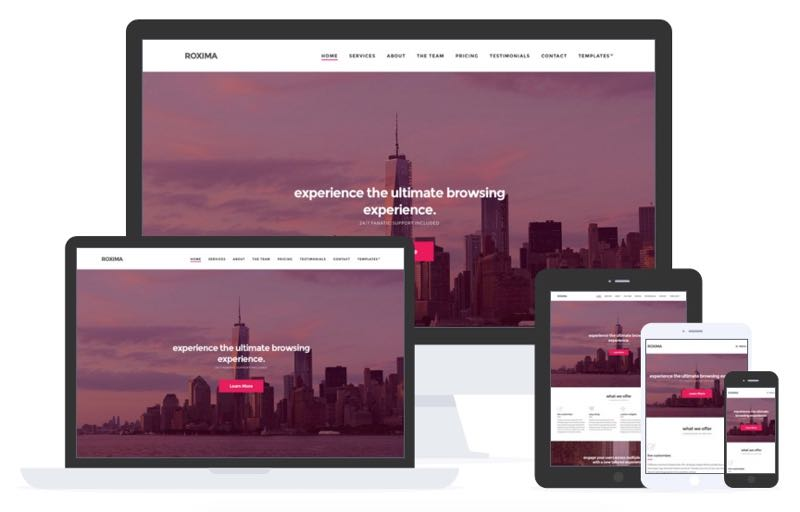 Roxima WordPress One Page Business Theme