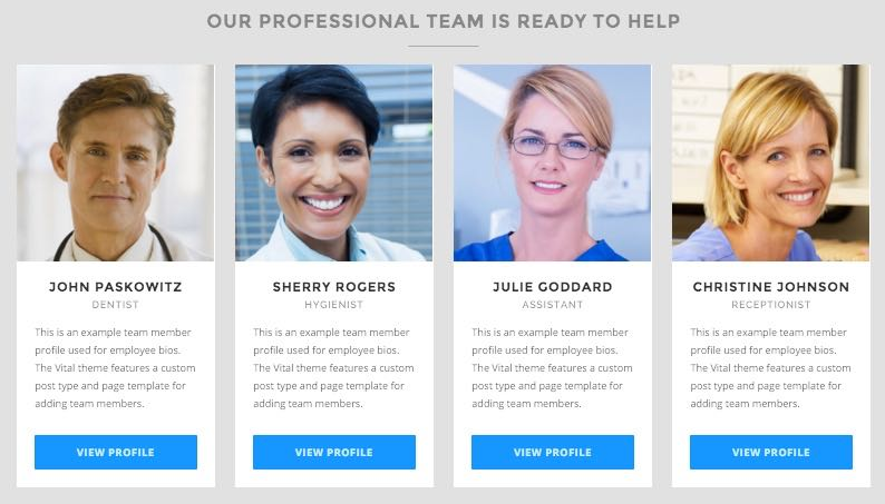 Showcase Management : Team Members : Employee Profiles