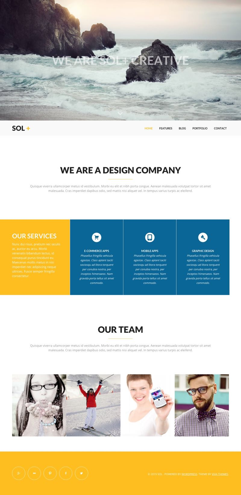 Sol WordPress Creative Agency Theme