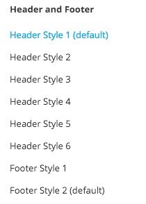 Header & Footer Styles - SiteBox Theme