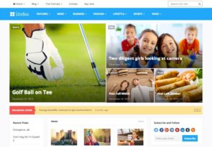 SiteBox WordPress Magazine Style Theme