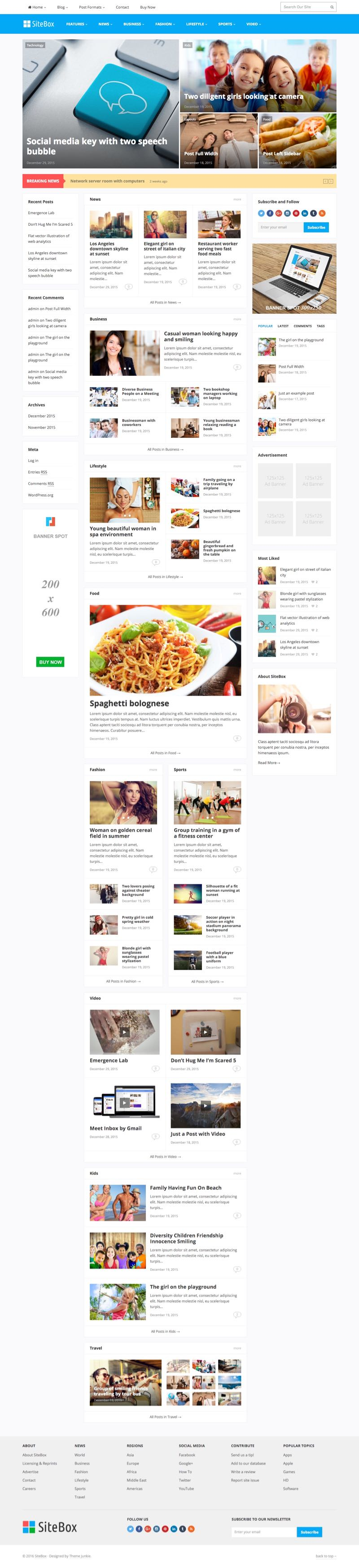 SiteBox WordPress SEO Friendly Magazine Theme