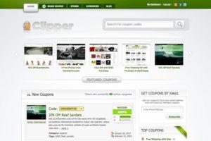 Clipper WordPress Affiliate Coupon Code Theme