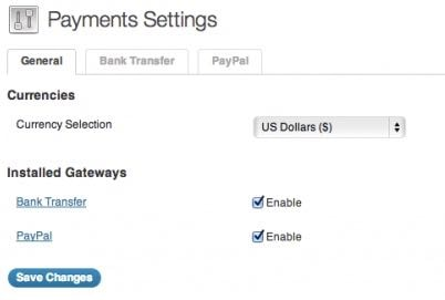 Coupon code - Payment Settings