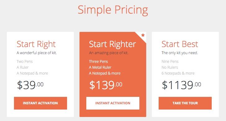 Dedicated Pricing Page Template for Business