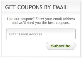 Email Coupons Sidebar Widget
