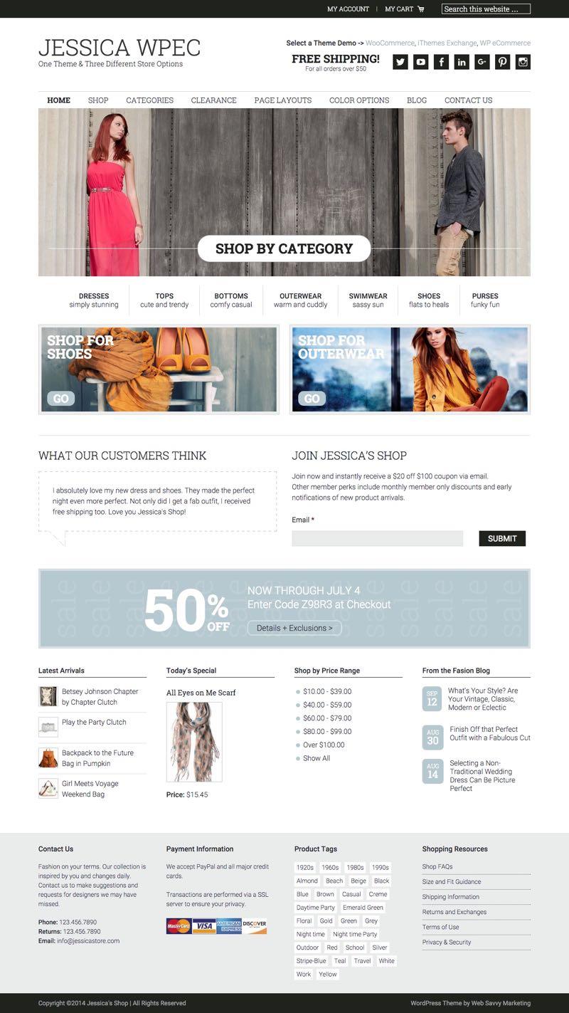 Jessica WordPress Genesis Framework e-Commerce Theme