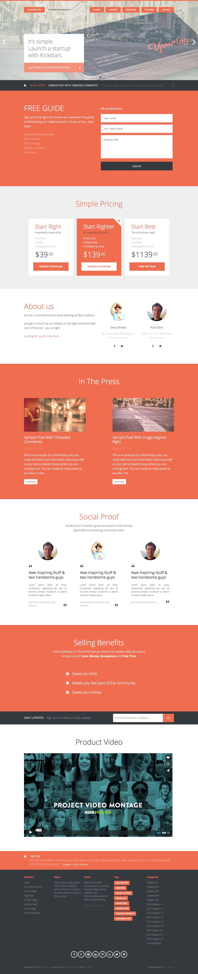 Kickstart Pro WordPress Genesis Framework Theme