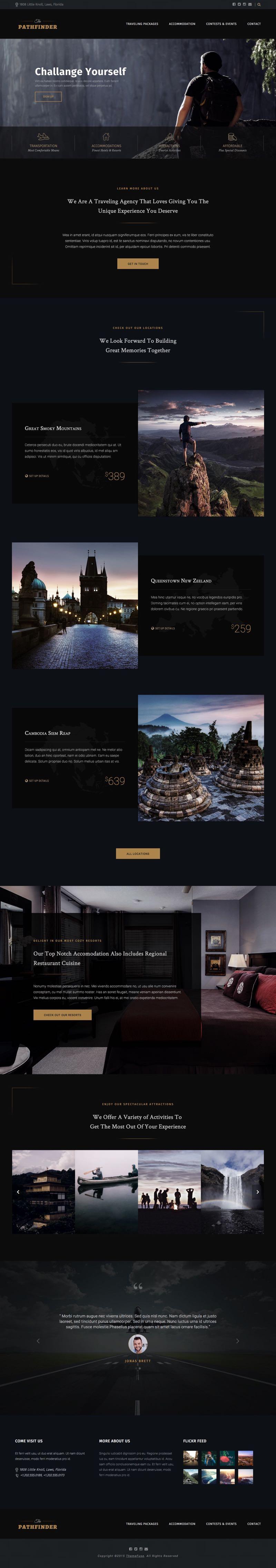 Path Finder WordPress Contest & Event Theme