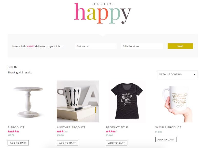 Pretty Happy WordPress Feminine Store Theme