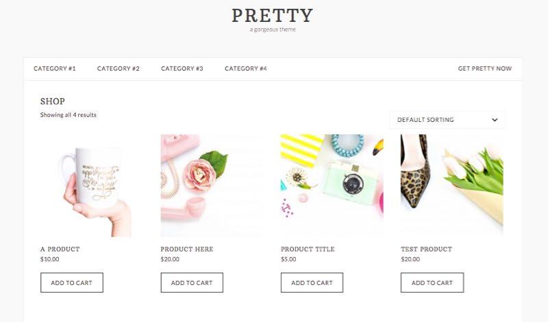 Pretty WordPress Female e-Commerce Store Theme