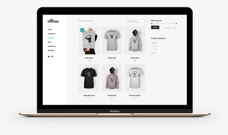 Bramble WordPress Online Shops Theme