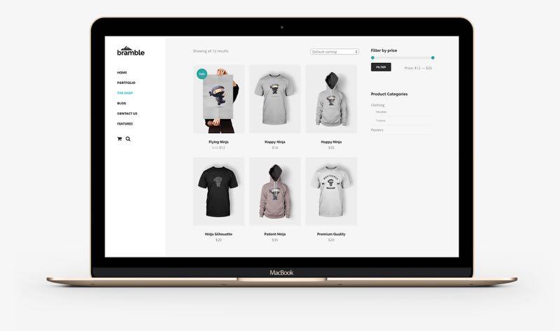 Bramble WordPress Online Shops Theme